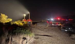 بالصور..السيطرة على حريق السودة ولا إصابات