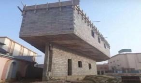"""مهندس يؤكد: مبنى أبو عريش """" العجيب """" آمن"""