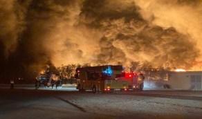 """""""مدن"""" تعلق على حريق اندلع بأحد المصانع في الرياض"""