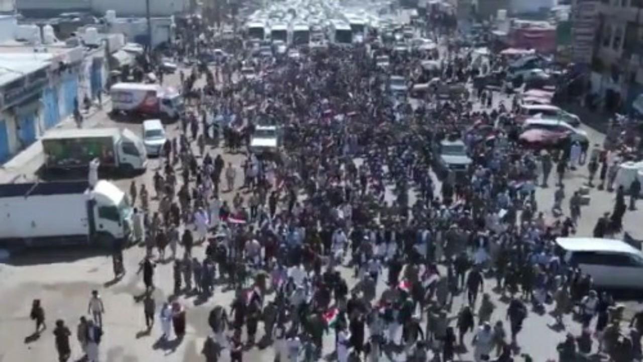 شاهد.. استقبال مهيبللمختطفين المحررين من سجون مليشيا الحوثي في مأرب