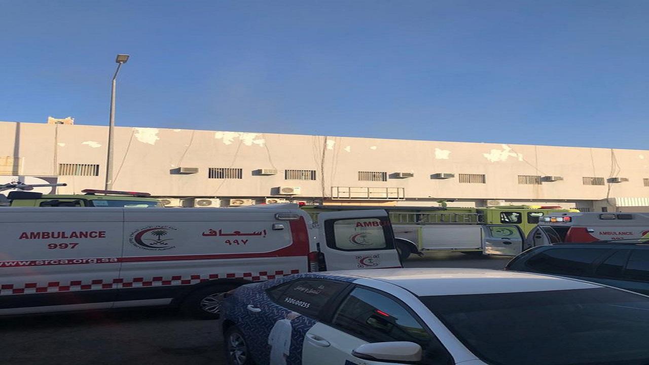 16 إصابة في حريق عمارة سكنية بالرياض