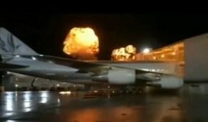شاهد.. حقيقة الفيديو المتداول لاصطدام طائرة في مبنى أحد المطارات