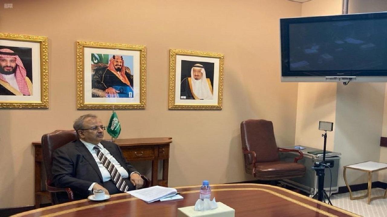 السفير المعلمي يشارك في مناقشة الإجراءات المتبعة لاتخاذ قرارات الأمم المتحدة خلال الجائحة