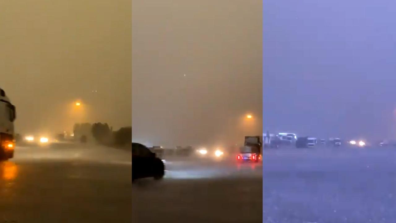 بالفيديو.. عاصفة رعدية قوية تضرب شمال شرق مكة