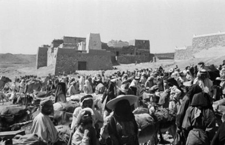 سوق أبها عام 1945 م