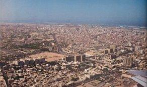 منظر جوي من مدينة جدة قبل حوالي 40 سنة