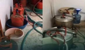 بالفيديو.. القبض على 6 وافدين أداروا مصنعين للخمور داخل منزلي بالرياض
