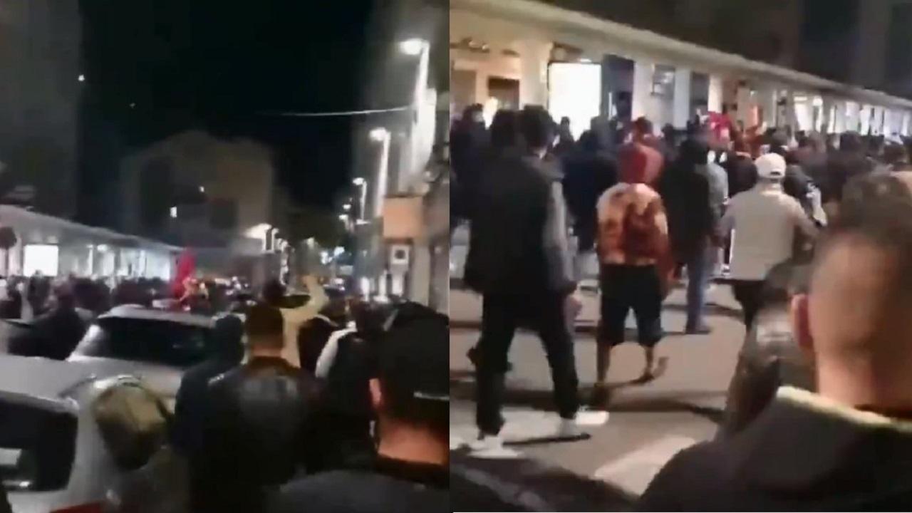 بالفيديو.. مئات الأتراك يبحثون عن أرمن في فرنسا لممارسة العنف ضدهم