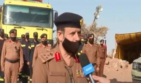 الدفاع المدني يواصل عمليات المسح الميداني في تنومة لمدة 48 ساعة