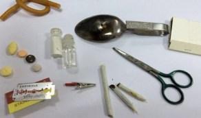 """""""مكافحة المخدرات"""" ترصد أدوات تشير إلى احتمال التعاطي"""