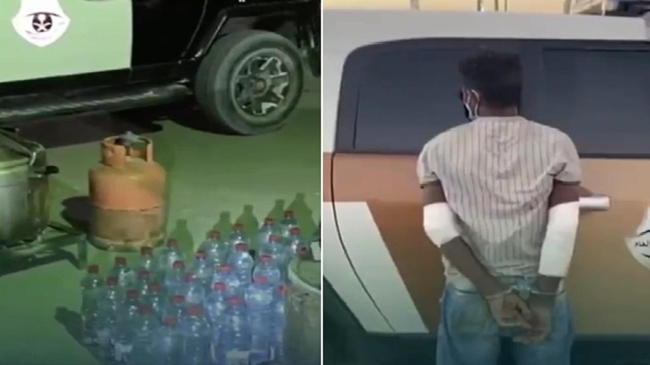 ضبط مصنعين للخمور في الرياض والقبض على إثيوبي يدير أحدهما