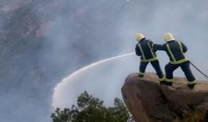 انخفاض نسبة حريق جبل غلامة بشكل كبير