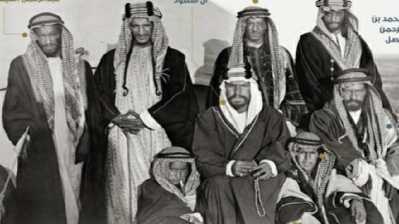صورة تاريخية نادرة للملكعبدالعزيزفي ثاج بالمنطقة الشرقية