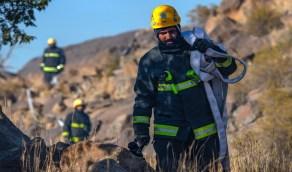 بالصور.. السيطرة على حريق تنومة من الجهتين الجنوبية والغربية