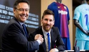 """رئيس برشلونة يكشف سبب منع """"ميسي"""" من الرحيل بعد خسارة الكلاسيكو"""
