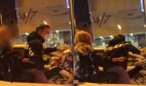شاب وفتاة يتجولان على دراجة نارية بسلاح في الطائف