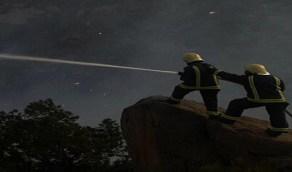 أمانة عسير توضح آخر تطورات حريق جبل غلامة في تنومة