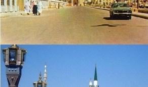 شارع العينية قبل وبعد توسعة الملك فهد رحمه الله