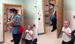 بالفيديو.. طاقم طبي يؤدي رقصة الباليه لإسعاد طفلة مريضة