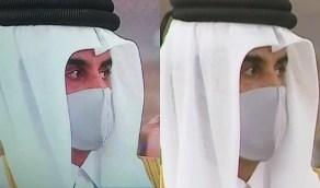 حقيقة بكاء أمير قطر أثناء العزاء في الشيخ صباح الأحمد