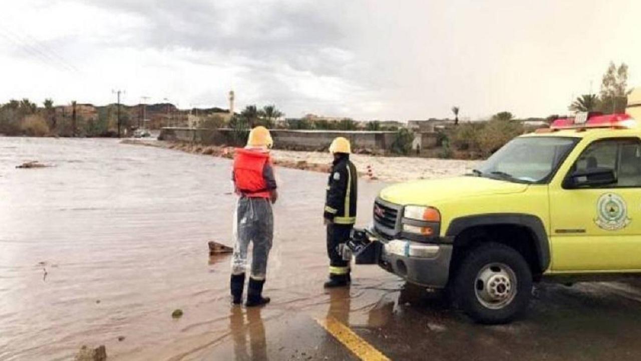 الدفاع المدني يحذر من تجمعات السيول