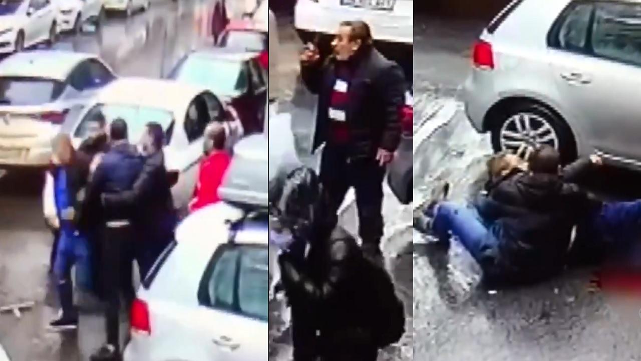 بالفيديو.. بلطجية يعتدون على مسن وحفيده في أحد شوارع أسطنبول