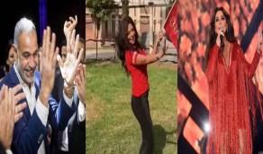 نجوم الوسط الفني يحتفلون بفوز الأهلي