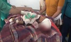 وفاة طفلة بعد ساعات من وفاة أبيها وأمها إثر انفجار عبوة ناسفة حوثية