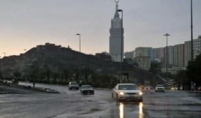 """"""" الجهني """": الحالة الممطرة على مكة تشتد بعد منتصف الليل"""