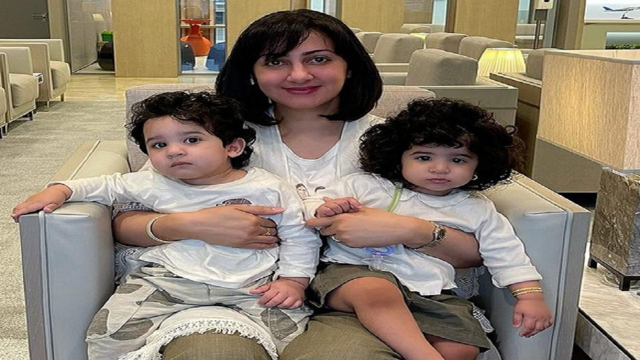 "أحدث ظهور لـ""هيفاء حسين"" مع طفليها"