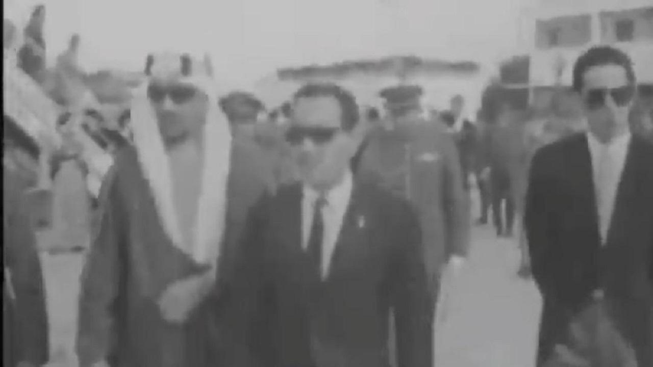 فيديو نادر يوثق زيارة الملك سعود للمغرب لحضور عيد جلوس الملك حسن