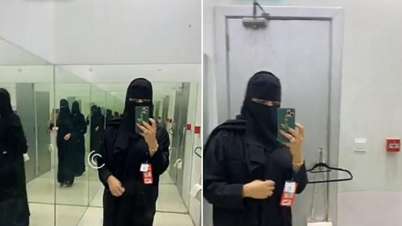 بالفيديو.. بدور البراهيم ترتدي العباءة والنقاب