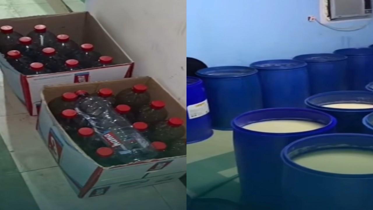 بالفيديو.. ضبط مصنع خمور داخل أحد المنازل بالرياض