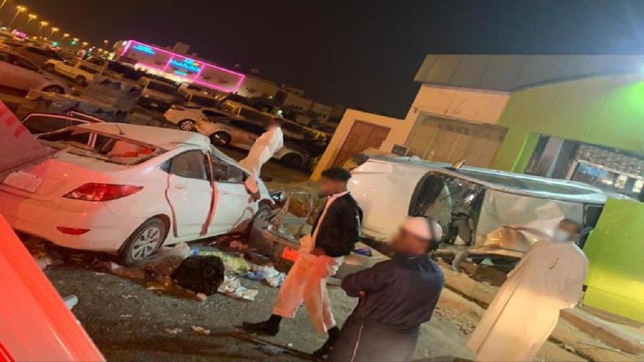إصابات في حادث تصادم بين عدد من المركبات بالرياض