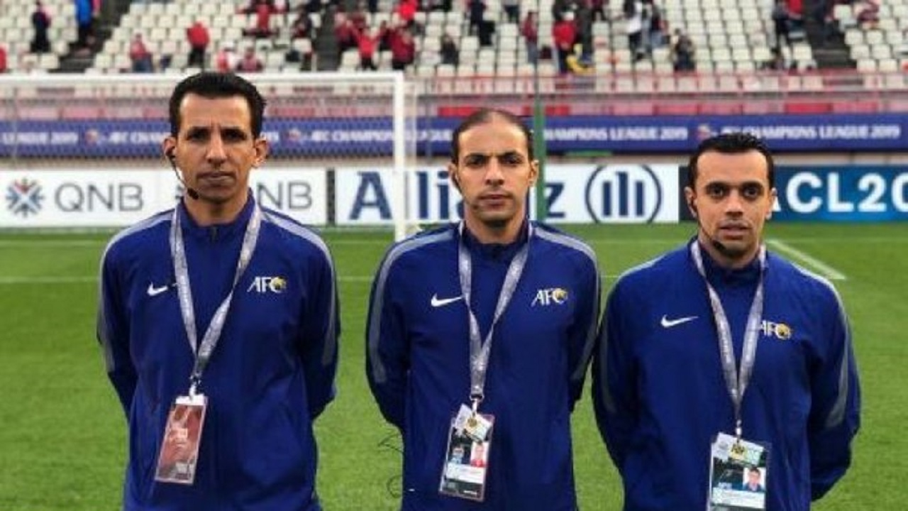 طاقم تحكيم سعودي لإدارة مباريات منطقة الشرق لدوري أبطال آسيا