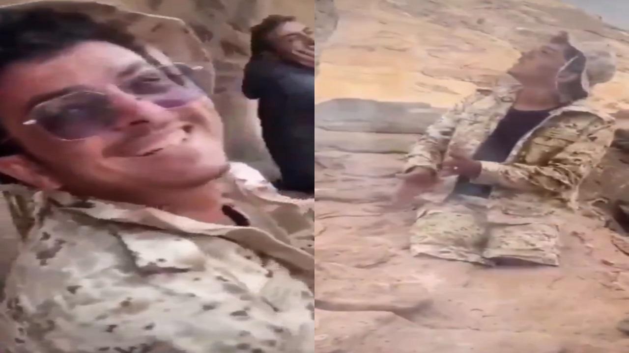 بالفيديو..بطل بالحد الجنوبي مبتور الساقين يشارك في الدفاع عن الوطن