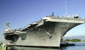 """أمريكا تعيد حاملة الطائرات """" يو أس أس نيميتز """" إلى الخليج العربي"""