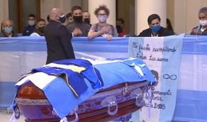 """إختلاس صور لوجه """"مارادونا"""" قبل مراسم الدفن"""