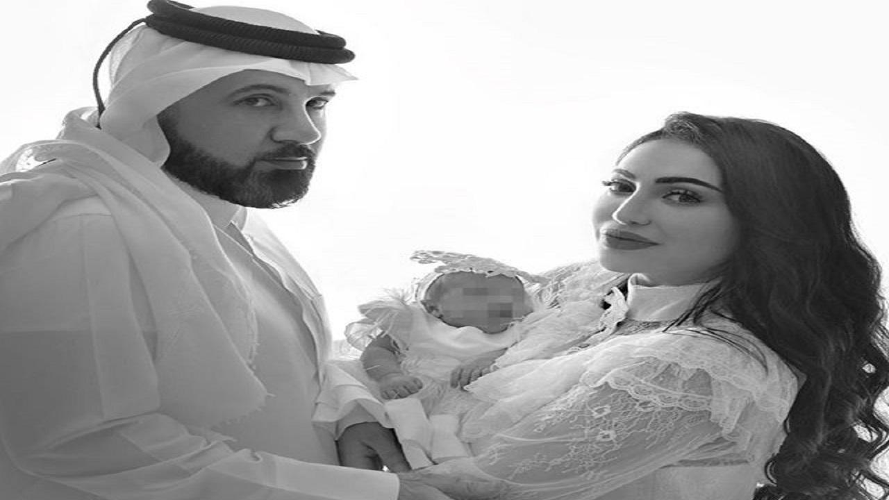 أول صور لفوز الشطي مع طفلتها الرضيعة
