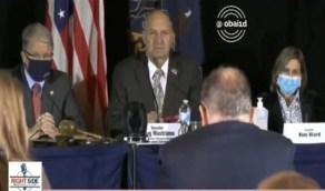 """بالفيديو.. محامي """"ترامب"""" يحرج لجنة الإنتخابات ويثبت تزويرهم"""