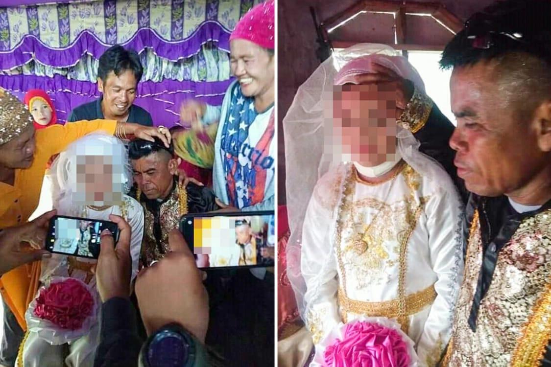 بالصور.. إجبار طفلة على الزواج من أربعيني