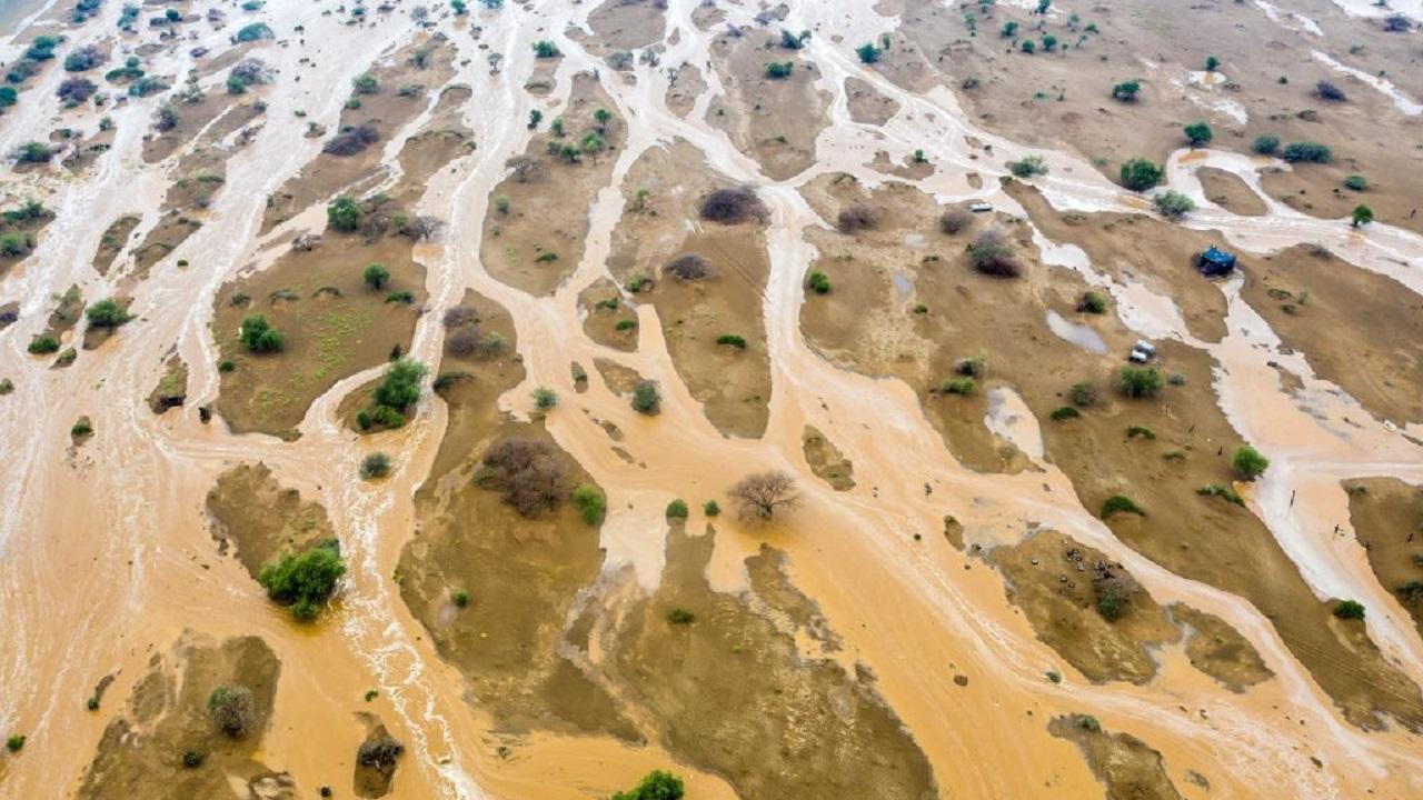 صورة جوية رائعة من أمطار الشقيق في جازان