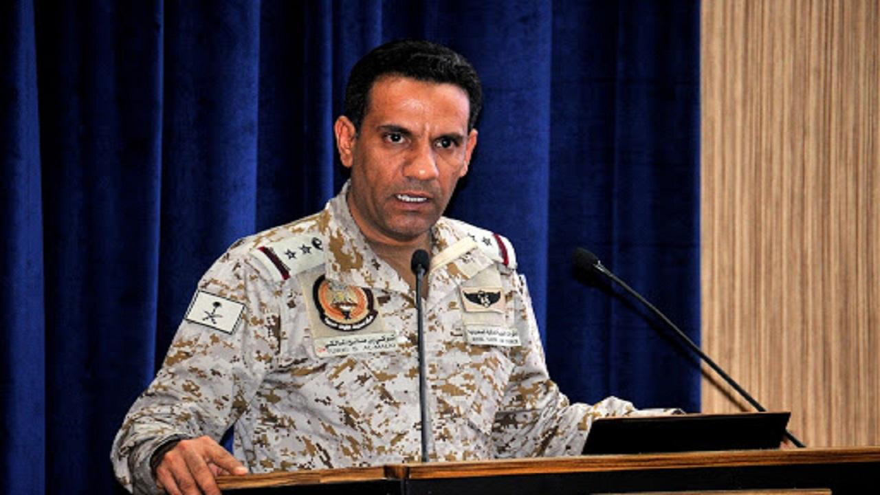 """""""التحالف"""" يعلن اعتراض وتدمير طائرة مفخخة حوثية أطلقت باتجاه المملكة"""