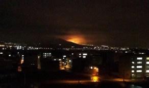 سماع دوى انفجار ضخم بمدينة سنندج الإيرانية
