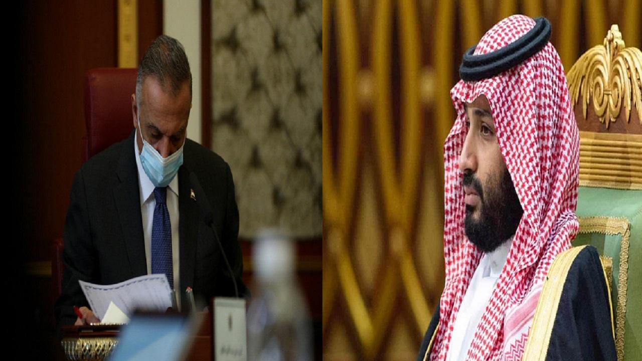 """ولي العهد يتفق مع """"الكاظمي"""" على افتتاح منفذ حدودي وتدشين ملحقية تجارية ببغداد"""