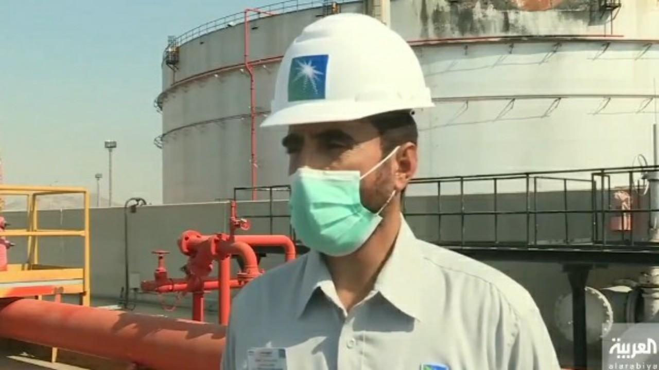 """بالفيديو.. مدير محطة وقود جدة: إمدادات عملاء """"أرامكو"""" لم تتأثر بحريق الخزان"""