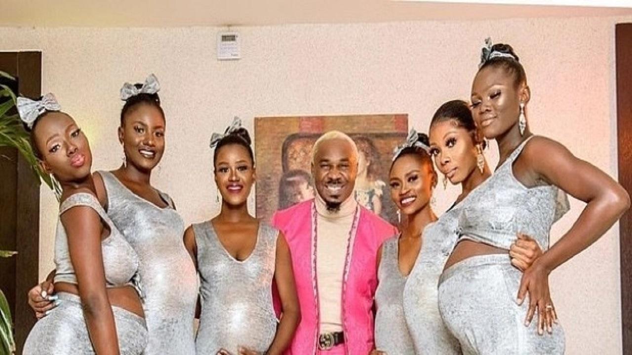 رجل يجمع بين 6 نساء كلهن حوامل منه في نفس الوقت