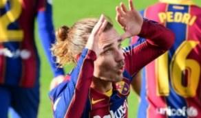 شاهد.. غريزمان يرقص بطريقة مثيرة احتفالًا بهدفهفي مباراة برشلونة وأوساسونا