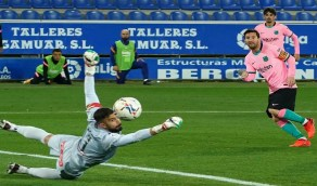 برشلونة يسقط في فخ التعادل أمام ألافيس