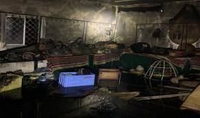 حريق يلتهم متحفًا تراثيا بجازان ومالكته تناشد بإعادة ترميمه